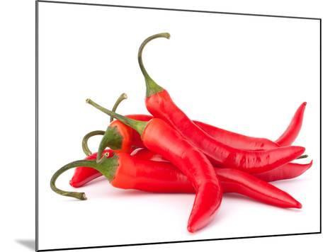 Hot Red Chili or Chilli Pepper-Natika-Mounted Photographic Print
