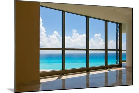 View of Tropical Beach Through Hotel Windows-nfsphoto-Mounted Photographic Print