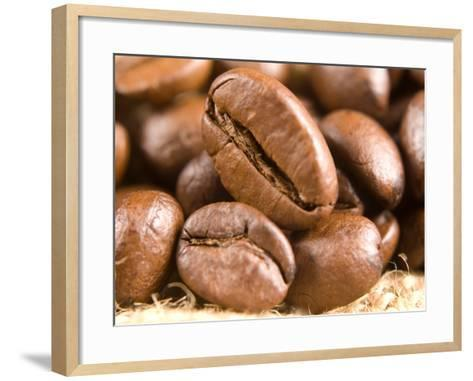 Roasted Coffe Beans Macro Texture-PH.OK-Framed Art Print