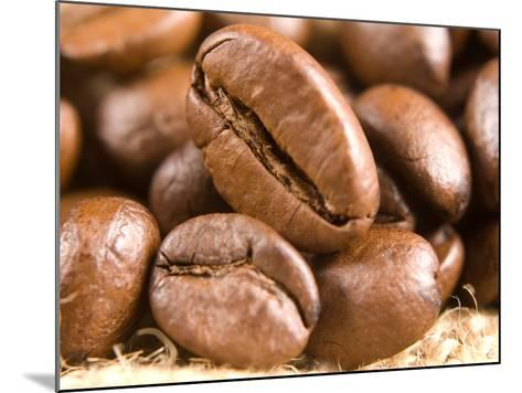 Roasted Coffe Beans Macro Texture-PH.OK-Mounted Photographic Print