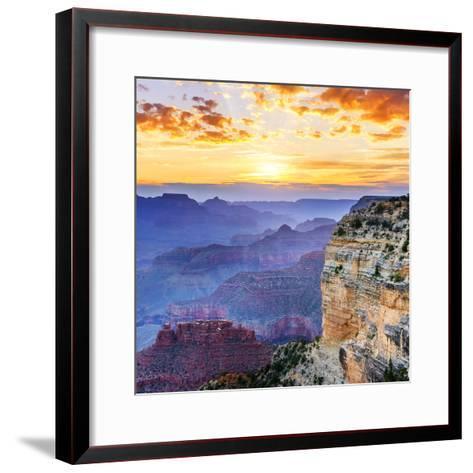 Grand Canyon-vent du sud-Framed Art Print