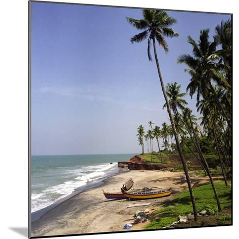 A Beach in Kerala, India, with Two Small Fishing Boats-PaulCowan-Mounted Photographic Print