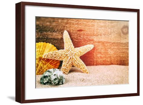 Sea Star and Shells-paulgrecaud-Framed Art Print