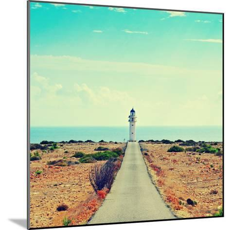 View of Beacon Far De Barbaria in Formentera, Balearic Islands, Spain, with a Retro Effect-nito-Mounted Photographic Print