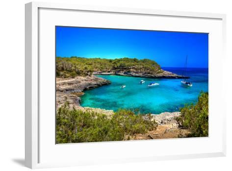 Beautiful Turquoise Bays In Stunning Mallorca-Maugli-l-Framed Art Print
