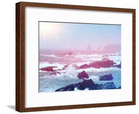 Ocean with Big Waves-melking-Framed Art Print