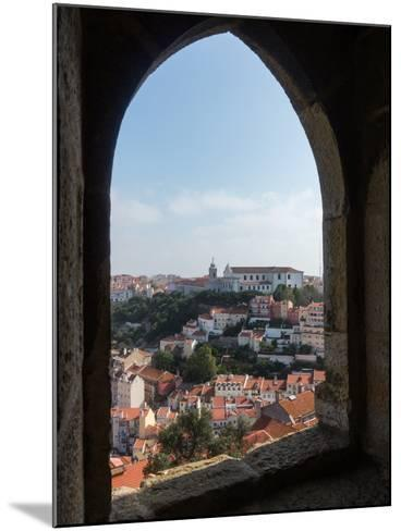 View over Lisbon Portugal-BackyardProductions-Mounted Photographic Print