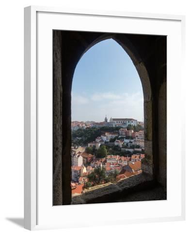 View over Lisbon Portugal-BackyardProductions-Framed Art Print