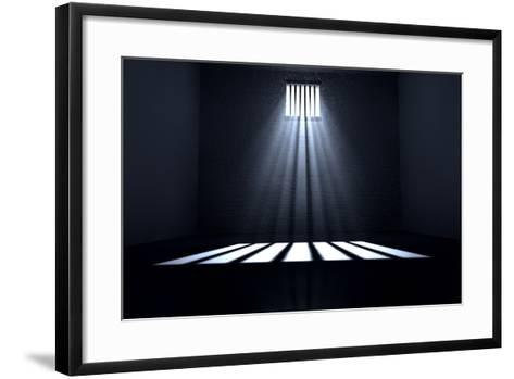 Sunshine Shining in Prison Cell Window-Inked Pixels-Framed Art Print
