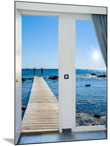 Sea View from the Pier-Dmitry Bruskov-Mounted Photographic Print