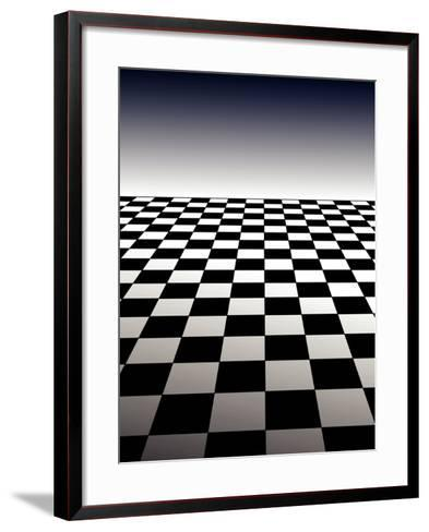 Checker Board Background-Isaac Marzioli-Framed Art Print
