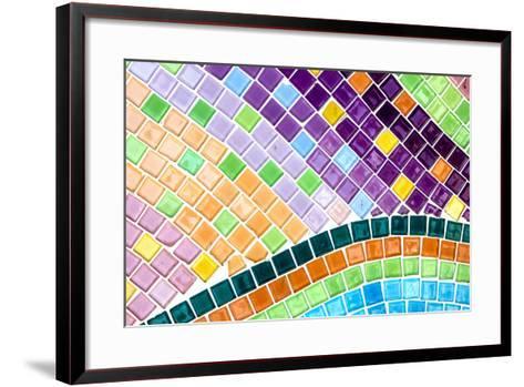 Tile Mosaic Pattern- thiroil-Framed Art Print