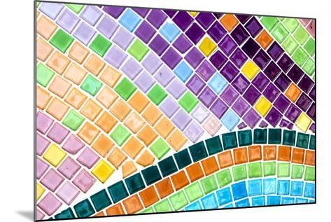 Tile Mosaic Pattern- thiroil-Mounted Photographic Print