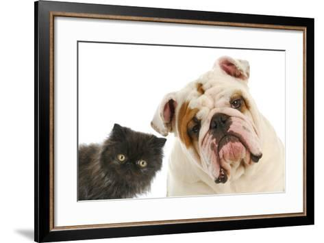 Dog And Cat-Willee Cole-Framed Art Print