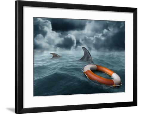 Lost At Sea-paul fleet-Framed Art Print