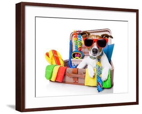 Summer Holiday Dog-Javier Brosch-Framed Art Print