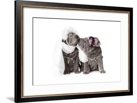 First Kiss-alkir-Framed Art Print