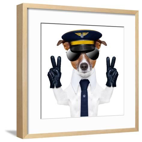 Pilot Dog-Javier Brosch-Framed Art Print