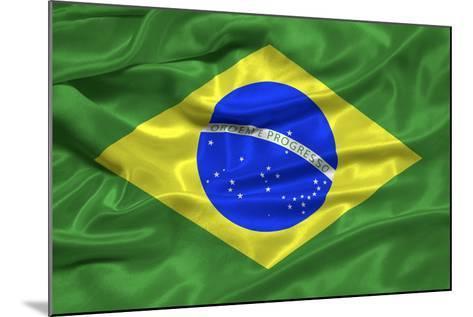 Brazil Flag-Sarah Nicholl-Mounted Photographic Print