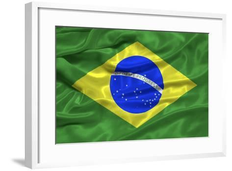 Brazil Flag-Sarah Nicholl-Framed Art Print