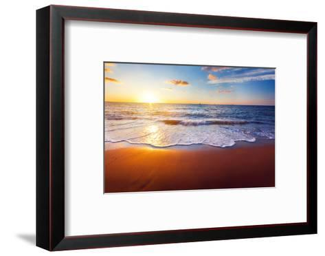 Sunset And Beach-Hydromet-Framed Art Print