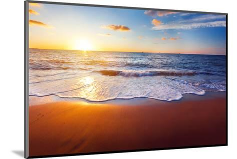 Sunset And Beach-Hydromet-Mounted Photographic Print