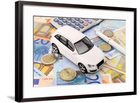 Euro Car Finance-spectrumblue-Framed Art Print