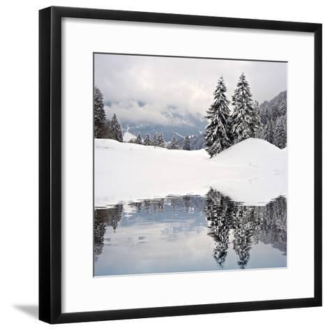 Winter Scene-ajn-Framed Art Print