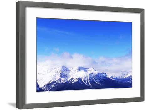 Snowy Mountains-elenathewise-Framed Art Print