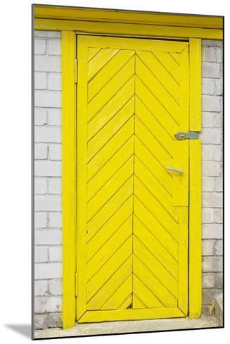 Yellow Old Wooden Door-vilax-Mounted Photographic Print