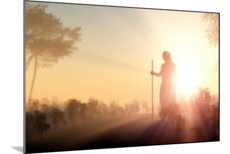 Silhouette of Jesus in the Sunlight-1971yes-Mounted Photographic Print