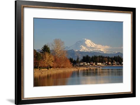 Mt. Rainier Sunset-nikon700photog-Framed Art Print