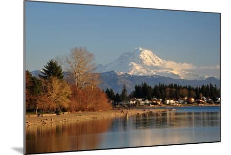 Mt. Rainier Sunset-nikon700photog-Mounted Photographic Print