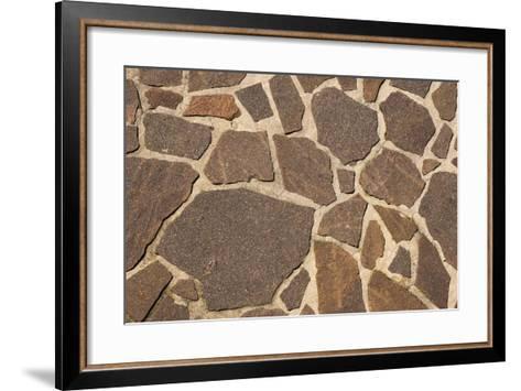 Stone Floor Background- Alberto SevenOnSeven-Framed Art Print