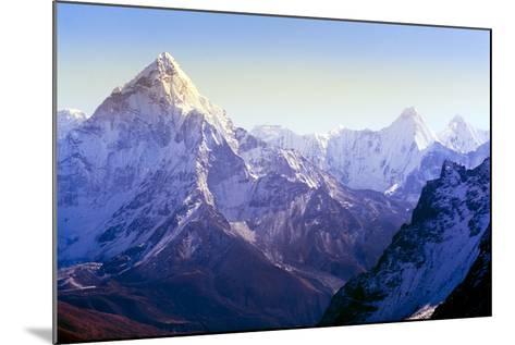 Himalaya Mountains-Microstock Man-Mounted Photographic Print