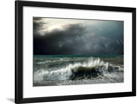 View of Storm Seascape-yuran-78-Framed Art Print