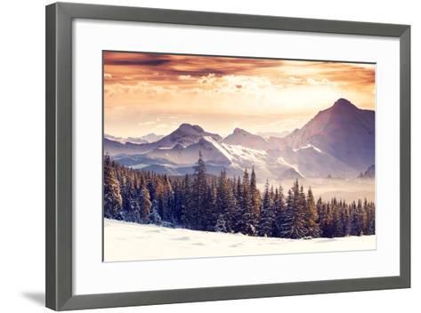 Fantastic Evening Winter Landscape-Leonid Tit-Framed Art Print