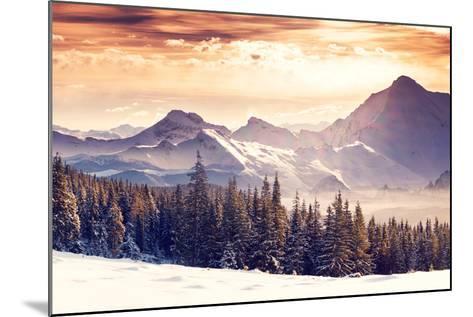 Fantastic Evening Winter Landscape-Leonid Tit-Mounted Photographic Print