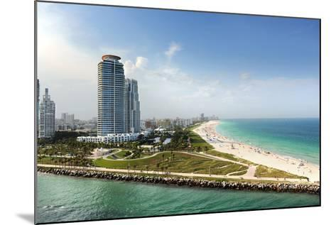 Miami Beach in Florida with Luxury Apartments and Waterway-Gino Santa Maria-Mounted Photographic Print