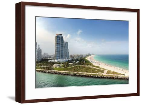 Miami Beach in Florida with Luxury Apartments and Waterway-Gino Santa Maria-Framed Art Print