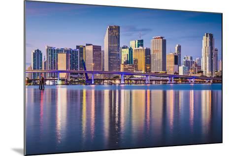 Miami, Florida, USA Downtown Skyline at Dawn.-SeanPavonePhoto-Mounted Photographic Print