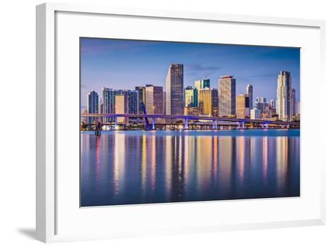 Miami, Florida, USA Downtown Skyline at Dawn.-SeanPavonePhoto-Framed Art Print