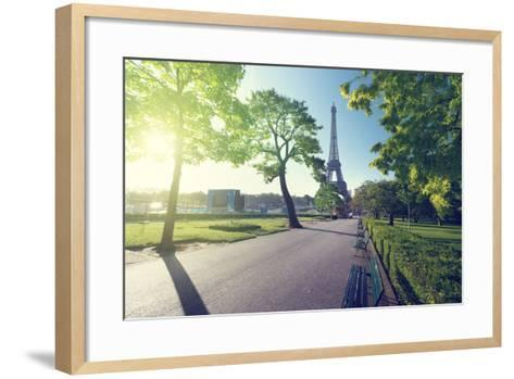 Sunny Morning and Eiffel Tower, Paris, France-Iakov Kalinin-Framed Art Print