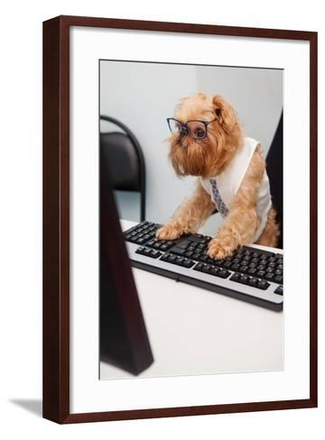 Dog Manager-Okssi-Framed Art Print