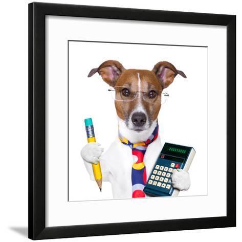 Secretary Dog-Javier Brosch-Framed Art Print