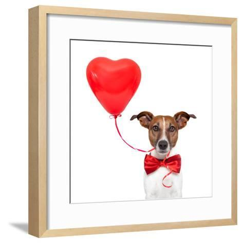 Dog In Love-Javier Brosch-Framed Art Print