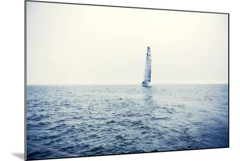 Sailing Ship Yachts with White Sails-Andrew Bayda-Mounted Photographic Print