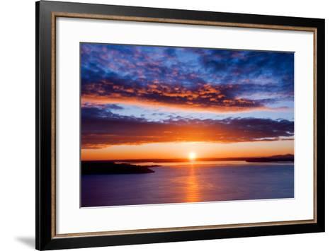 Sunset over Puget Sound, Seattle-kwest19-Framed Art Print