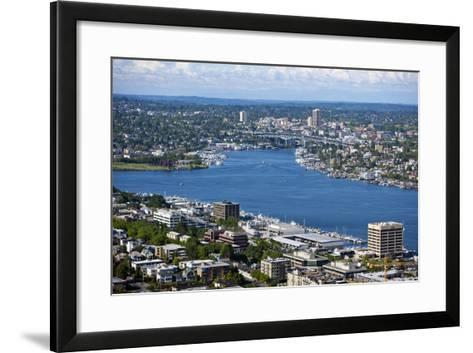 View of Puget Sound from Space Needle-Nosnibor137-Framed Art Print