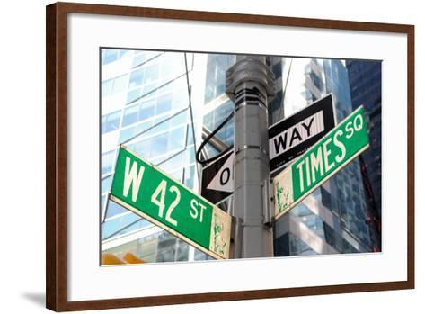 The Intersection of 42Nd Street and times Square in New York City.-SeanPavonePhoto-Framed Art Print